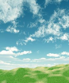 Free Green Field And Sky Royalty Free Stock Photo - 8352655