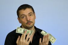 Free Man In Financial Crisis Stock Image - 8352711