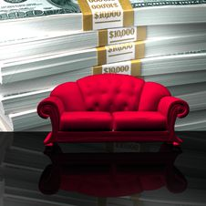 Sofa $ Stock Images