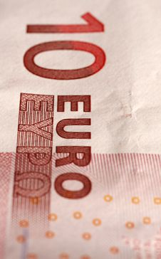 Detail Of A Euro Banknote Stock Images