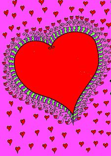 Free Big Red Heart Stock Photography - 8354052