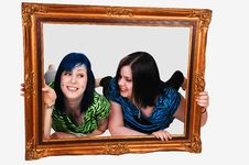 Free Two Girls In Frame. Stock Photography - 8354702