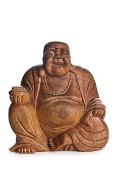 Wooden Buddha Royalty Free Stock Photography