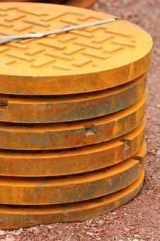 Free Manhole Covers Stock Photo - 8355660