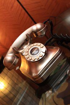 Free The Metallic Telephone Stock Photos - 8355913