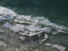 Cracked Ice Stock Image