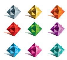 Set Of Multicolor Vector Stars Stock Images