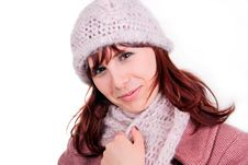 Free Teen Girl Wearing Winter Coat Royalty Free Stock Image - 8357296