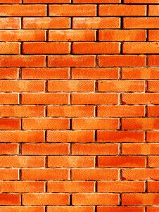 Free Relief On A Brick Surface Royalty Free Stock Photography - 8357507