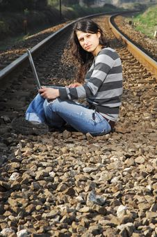 Free Pretty Girl Waiting For The Train Royalty Free Stock Photos - 8357758