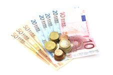 Free Euro Coins And Banknotes Stock Image - 8357801