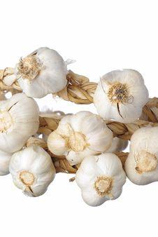 Free White Garlic Isolated Stock Photos - 8358173