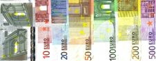 Free Detail Front Euro Notes Royalty Free Stock Image - 8358626
