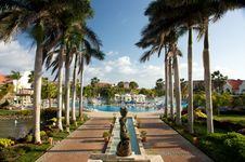 Free Caribbean Tropical Resort Royalty Free Stock Photography - 8359097
