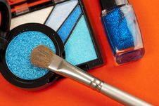 Free Blue Makeup Royalty Free Stock Photo - 8359395