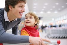 Free Father And Daughter In Shop Stock Photo - 8359480