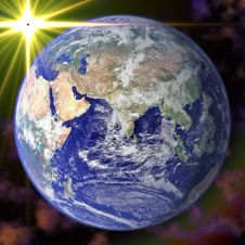 Free Earth Blue Planet In Space Royalty Free Stock Photos - 8359988
