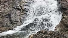 Waterfall Close Up Slow Motion Royalty Free Stock Photo