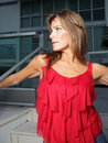 Free Woman Posing By A Building Stock Image - 8366001