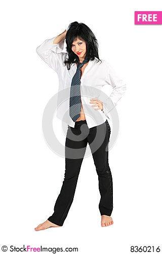 Free Beautiful Barefoot Brunette Royalty Free Stock Image - 8360216