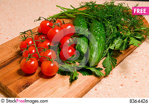 Free Vegetables For Salad Royalty Free Stock Image - 8364426