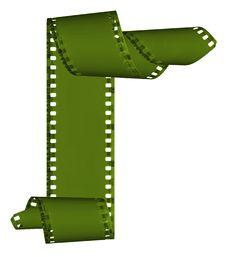 Free Slide Films Frame Isolated On White Stock Image - 8360001
