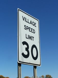 Free Speed Limit Stock Image - 8360241