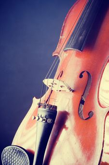 Violin Details Stock Images