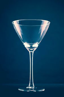 Free Empty Martini Glass Royalty Free Stock Photography - 8360717