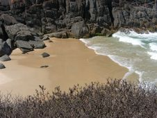 Free Sand, Stone & Seawater. Royalty Free Stock Images - 8361649