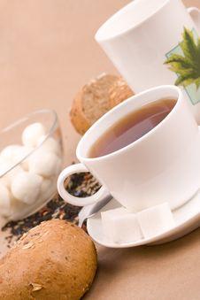 Free Tea, Mozzarella And Bread Royalty Free Stock Photos - 8361658
