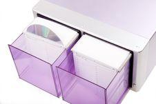 Purple CD Box Stock Photography