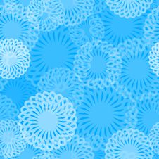 Free Seamless Blue Whirl Pattern Royalty Free Stock Image - 8362086