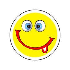 Free Smile Icon With Tongue Stock Photo - 8362420