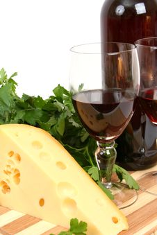 Free Wine And Cheese Stock Image - 8362501