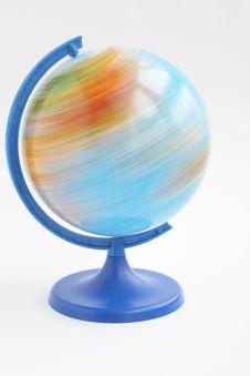 Free Spining Globe Stock Images - 8362634
