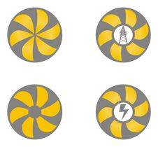 Free Electricity Icons Royalty Free Stock Photography - 8362817