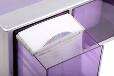 Purple CD Box Royalty Free Stock Photo