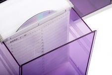 Purple CD Box Royalty Free Stock Image