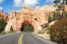 Free Stone Gate, Red Canyon Royalty Free Stock Photography - 8363047