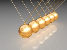 Free Gold Newton Balls Stock Photo - 8363120