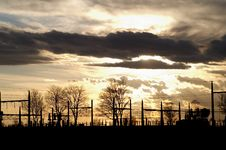 Substation Silhouette Royalty Free Stock Photo