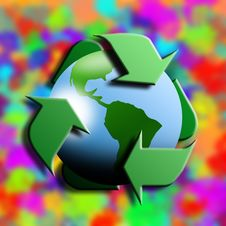 Free Recycling Symbol With Earth In The Center Stock Photography - 8363292