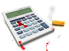 Suicide In Crisis - Calculator. Royalty Free Stock Images