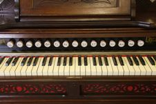 Free Reed Organ Keyboard Royalty Free Stock Photo - 8363555