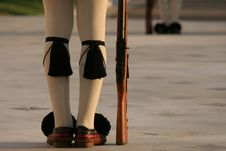 Free Athens Greece Parliament Guards Legs Stock Image - 8364121