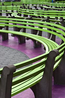 Free Color Benches In New York Stock Image - 8364281