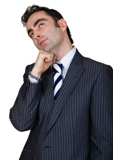 Thinking Businessman Stock Image