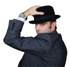 Free Retro Businessman Holding Hat Royalty Free Stock Photo - 8364665