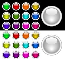 Free Color Buttons Royalty Free Stock Image - 8365036